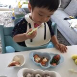 幼児食 フォークの使い方(1歳半/あおいママさん)