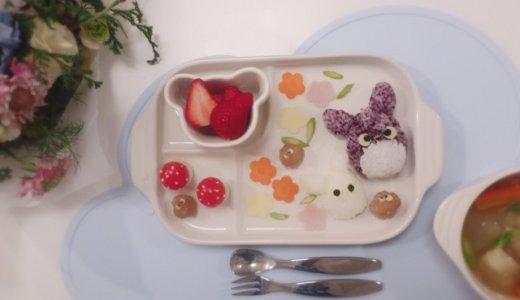 幼児食 キャラ弁(2歳/あおいママさん):トトロの作り方
