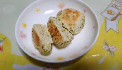 幼児食 手作り:『青のり入りとうふパン』