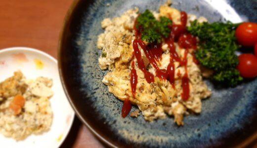 幼児食 市販品を使って:『豆腐あんかけ』『豆腐と卵のやわらかキッシュ』